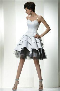 Delightful White Petal Like Homecoming/Formal Dress