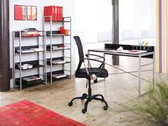 Skrivebord GELSTED svart/metall
