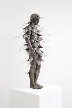 - Speaking in Tongues - 2014 - Thomas Lerooy - bronze, zinc patina, glass - 119 x 70 x 55 cm - Contemporary Sculpture, Contemporary Art, Speaking In Tongues, Art Forms, Metallica, Sculpture Art, Sculpting, Art Pieces, Objects