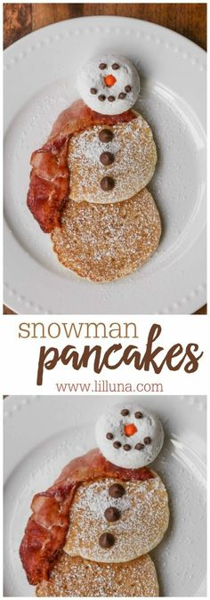 Pancakes EASY Snowman Pancakes - the perfect idea for the kids on Christmas morning and one they can help make too!EASY Snowman Pancakes - the perfect idea for the kids on Christmas morning and one they can help make too! Christmas Pancakes, Christmas Snacks, Xmas Food, Christmas Brunch, Christmas Cooking, Christmas Goodies, Holiday Treats, Holiday Recipes, Christmas Christmas