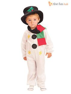 4a363fa7f44cd Kids child snowman costume age 2 - 8 christmas fancy  dress  childrens   toddler