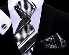 Mamba Tie Set XL TwentyDollarTie - High Quality Silk Ties and Bow Ties Kids Ties, Tie And Pocket Square, Tie Set, Tie Knots, Mens Xl, Mens Fashion, Dollar, Bow Ties, Black Silk