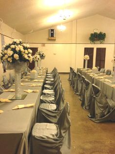 Fellowship Hall Dining With Long Tables Take 6ft Tables