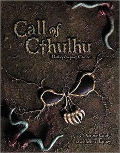 Call of Cthulhu (d20 Edition Horror Roleplaying, WotC) by Monte Cook and John Tynes (Mar 1, 2002) | Book cover and interior art for Call of Cthulhu Roleplaying Game - CoC, Basic Role-Playing System, BRP, The Card Game, TCG, Living Card Game, LCG, Miskatonic University, H. P. Lovecraft, fantasy, horror, Role Playing Game, RPG, Chaosium Inc. | Create your own roleplaying game books w/ RPG Bard: www.rpgbard.com | Not Trusty Sword art: click artwork for source