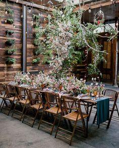 Photo shared by WedLuxe®️ on March 17, 2020 tagging @brindamourphoto, @leilaniweddings, @bbjlinen, @ninecakes, @brooklynwinery, @designsbyahnnyc, @ulsnyc, @briandavidweddings, @elitetentpartyrental, @inkandhoneynyc, @nuagerhythm, and @fayefernevents. Image may contain: plant, table, outdoor and indoor. Rose Wedding, Floral Wedding, Rustic Wedding, Wedding Reception, Dream Wedding, Reception Ideas, Fall Wedding, Wedding Flowers, Brooklyn Wedding Venues