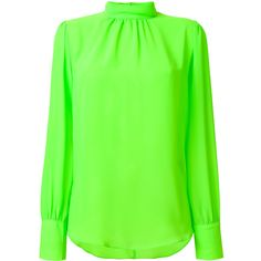 Frenken Poison Blouse ($168) ❤ liked on Polyvore featuring tops, blouses, green top and green blouse