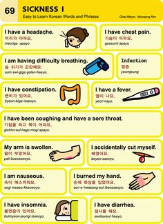 Feeling a little sick? You can still learn some Korean. Learn how to tell someone where it hurts. #LearnKorean #Korean
