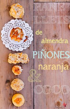 Panellets. Recetas Otoño. Autumn recipes. Catalonia. Spain