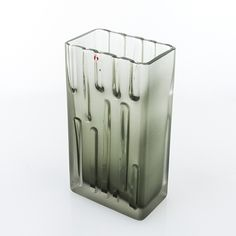 TAPIO WIRKKALA - Glass vase '3578' for Iittala, 1960s, Finland. [h. 22 cm]
