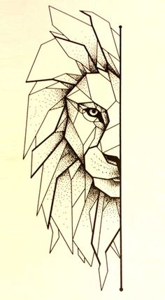 geometric lion - Google Search Más