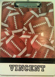 Football Clipboard by Slimdigm on Etsy, $19.00