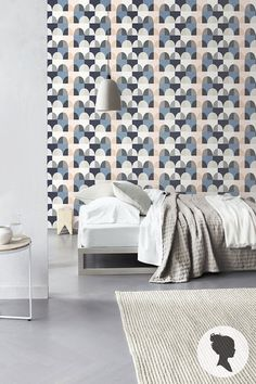 Peel and Stick Geometric Pattern Removable Vinyl Wallpaper D089