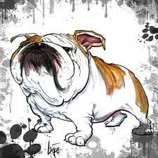 Shop for canine art from the world's greatest living artists. All canine artwork ships within 48 hours and includes a money-back guarantee. Choose your favorite canine designs and purchase them as wall art, home decor, phone cases, tote bags, and more! Mini English Bulldogs, English Bulldog Art, British Bulldog, French Bulldog, Bulldog Drawing, Bulldog Tattoo, Fox Terriers, Bully Dog, Bulldog Puppies