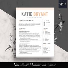 Buy Resume Templates Endearing Professional Resume Template One Two And Three Page Resume