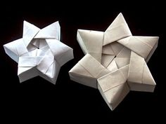 How to Origami a Christmas star box or hexagonal star box « Origami
