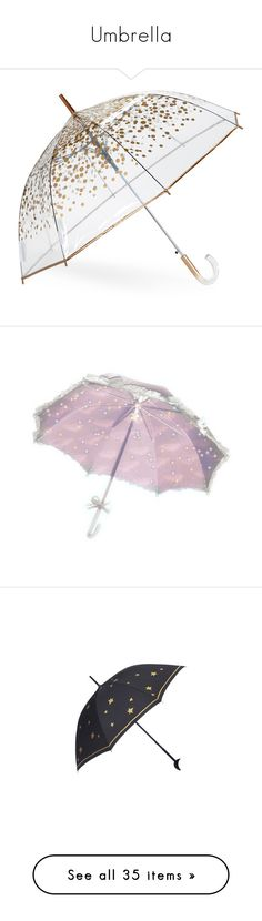 """""""Umbrella"""" by taught-to-fly19 on Polyvore featuring accessories, umbrellas, umbrella, misc accessories, other, metallic, transparent bubble umbrella, shedrain umbrella, bubble umbrella e see through umbrella"""
