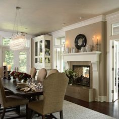 Would be nice to have a see through fireplace for dining room/living room.