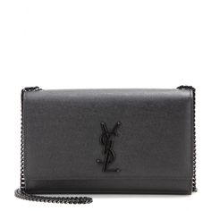 Saint Laurent - Classic Monogram Medium leather shoulder bag - Sleek, chic and inimitably Saint Laurent, the luxe credentials of this shoulder bag soar sky-high with this stunning leather offering. Updated for the latest season with the brand's lettering in an all-black effect, it's begging to be carried to your next party. Finished with a black chain shoulder strap, it is the most sophisticated way to finish your looks. seen @ www.mytheresa.com