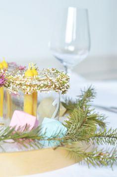 Modern Interior Winter Decoration Advent wreath