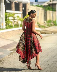 african print dresses This beautiful African print garment is suitable for different occasions. I will carefully sew it for you with high quality fabric prints and make you look Best African Dresses, Latest African Fashion Dresses, African Traditional Dresses, African Print Dresses, African Print Fashion, Africa Fashion, African Attire, African Wear, Ankara Mode
