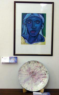 "Penelope azzurra ""cm.45x35"" anno 1982 Ceramica ""esplosione"" anno 1998"