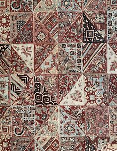 trade textile made for Javanese market in Indonesia - resist dyed cotton from gujarat, India,18th century