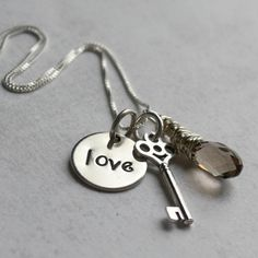'You Are the Key' necklace - can be personalized. LOVE it.