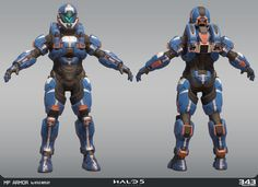 ARMOR: High Poly , Low Poly, UV's, Bakes and Textures by Pablo Vicentin  BR rifle, and Techsuit probided by 343 Industries.   Concept by  David Bolton    https://www.artstation.com/artwork/RqO0v