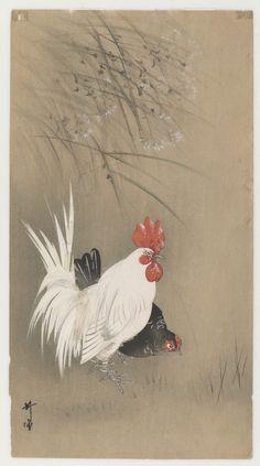 Rooster And Hen  Type     Woodblock print  Maker(s)     Artist: Tsukioka Kōgyo (1869-1927)  Historical period(s)     ca. 1910