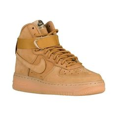 Nike Air Force 1 High Boys' Grade School (2.330 CZK) ❤ liked on Polyvore featuring shoes and sneakers