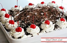 Layers of cherries, chocolate and whipped cream - Black Forest Lush