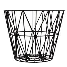 Ferm Living Wire Opbergmand Zwart - Ø 50 cm