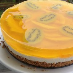 """Lemon Pretzel Salad with Mango and Kiwi 