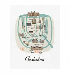 Amsterdam Art Print by RIFLE PAPER Co.   Made in USA