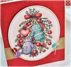 Bough Wow Wow stamp set by Power Poppy, card design by Debbie Olson.