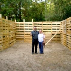 A horse stall made from pallets!  It's not complete yet, but what a cool idea!
