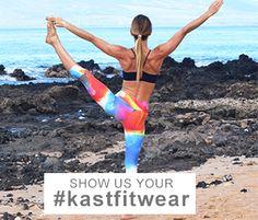 Show us your #kastfitwear!!  Kast staffer, Summer on Maui.  $70.00 Capris www.kastfitnesswear.com