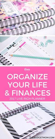 Planner | Budget | Get out of Debt | Save Money | Organize via @thebudgetmom