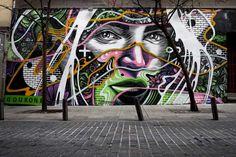 Art for the Humans: Die Murals von Dourone  Der spanische Street Artist Dourone verschönert seit 1999 die sonst grauen Häuserwände Madrids und später auch in anderen Städten weltweit. Sei...