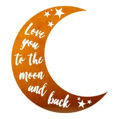 I Love You to the Moon And Back - Copper / 10\