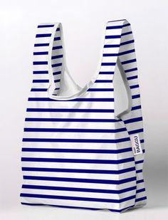 stripped shopper bag