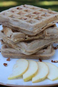 Whole Wheat Apple Pecan Waffles @Pidge's Pantry