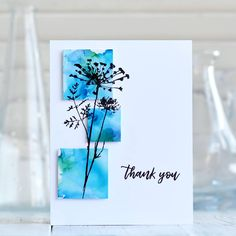 CAS thank you card, Alcohol inks