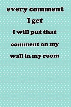 Ill do it, as long as its not inappropriate :) also I'm not gonna put the comments I make on my wall :D
