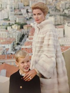 "gracefilm: "" Princess Grace of Monaco with her son, Prince Albert, in 1963. This photo was used as the cover of the December 1963 issue of Town and Country magazine. """