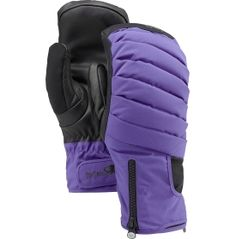 The warmest glove you can get, the Burton® [ak] Oven Mitt is essential for outdoor addicts. Triple goose down, PrimaLoft® Gold insulation and Hydrofil™ wicking fleece liner combine to provide the highest level of warmth you can get from a pair of gloves. WINDSTOPPER® ripstop fabric is windproof, highly breathable, and helps move moisture away. When the temperatures drop, grab the [ak] Oven Mitt.