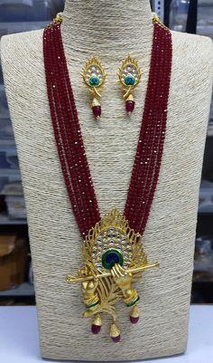 Keep Jewelry, Jewelry Sets, Women Jewelry, Necklace Set, Beaded Necklace, Peacock Necklace, Star Pendant, Wedding Wear, Krishna