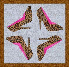 'Sexy high heel' paper pieced pattern