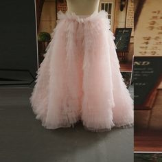 Find More Skirts Information about New Trendy 2015 Ruffles Tiered Floor Length Ball Gowns Floor Length Rigid Tulle Skirts Pink Skirt For Women With Short Train,High Quality skirt jean,China skirt children Suppliers, Cheap skirt hippie from Yast Lady Skirt on Aliexpress.com