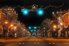 Downtown Newnan at Christmastime